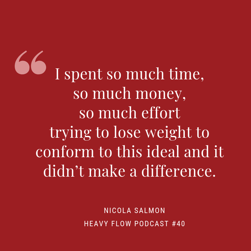 Heavy Flow Podcast Episode 40 - Fat, feminist fertility with Nicola Salmon